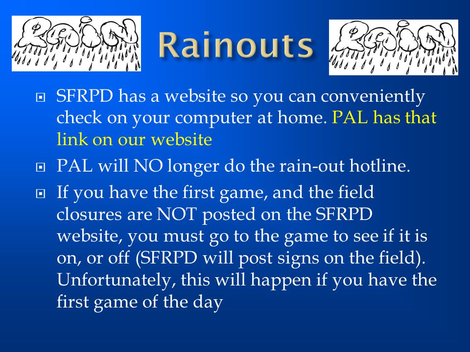  SFRPD has a website so you can conveniently check on your computer at home.