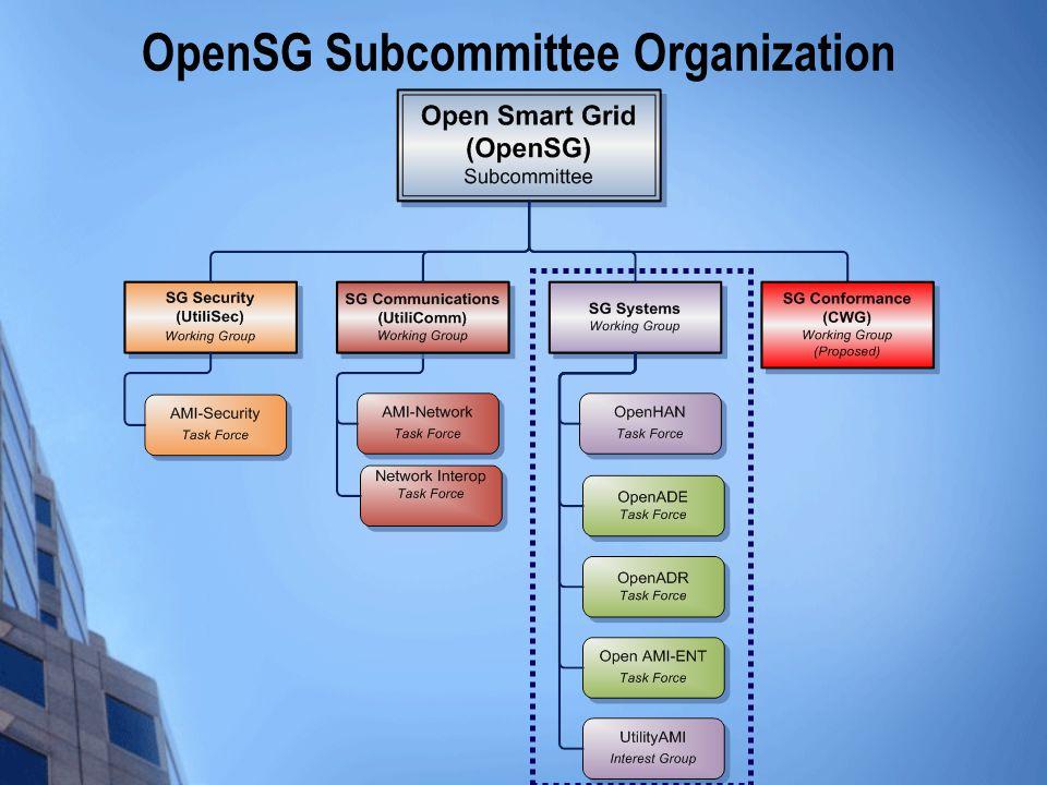 OpenSG Subcommittee Organization