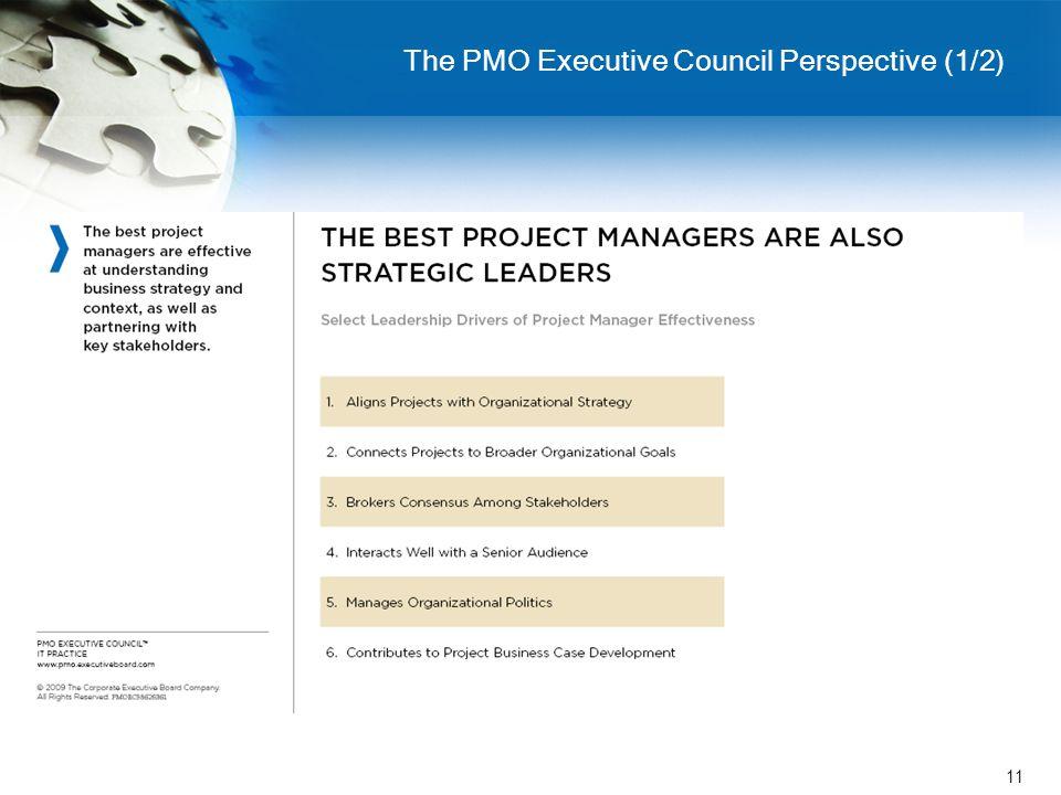 11 The PMO Executive Council Perspective (1/2)