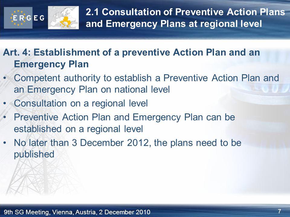 98 9th SG Meeting, Vienna, Austria, 2 December 2010 4.3 c) Open Season Procedures: