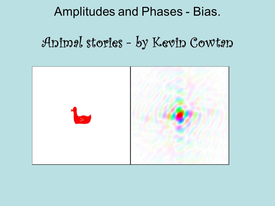 Amplitudes and Phases - Bias. Animal stories - by Kevin Cowtan