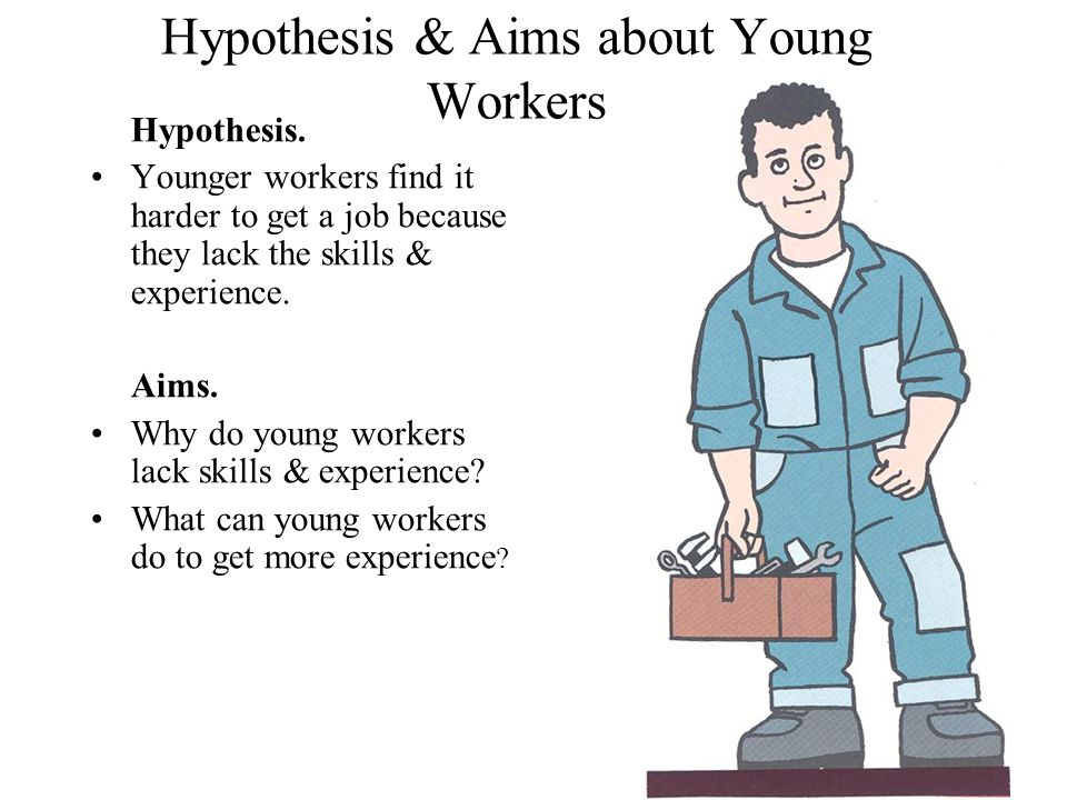 Hypothesis & Aims about Disabled Workers Hypothesis.
