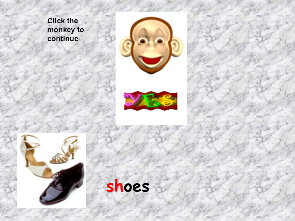 Click the monkey to continue shoes