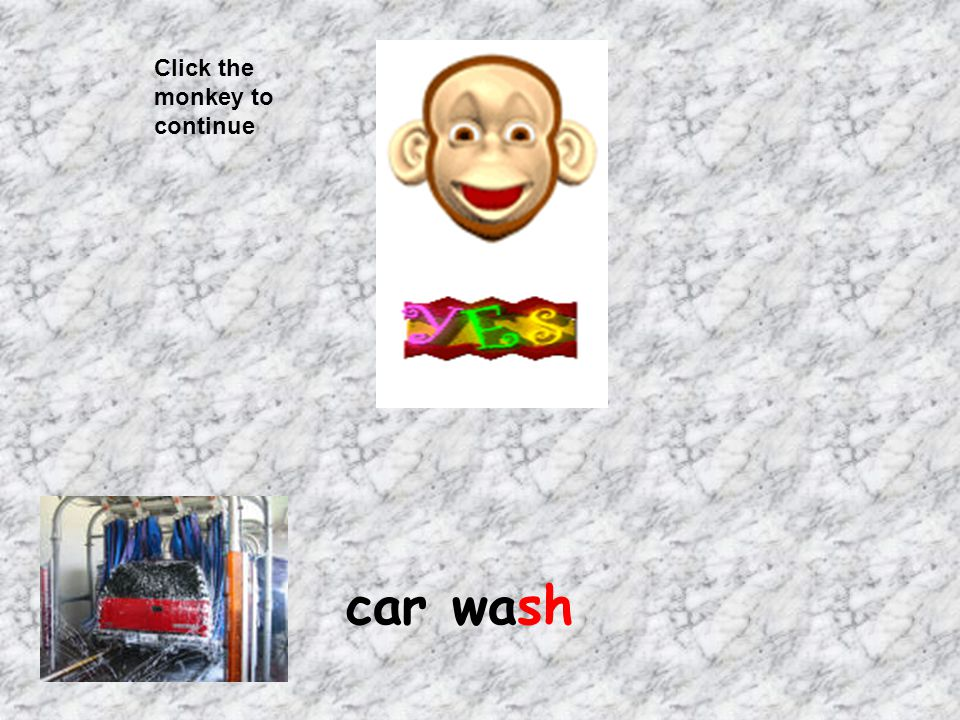 Click the monkey to continue car wash