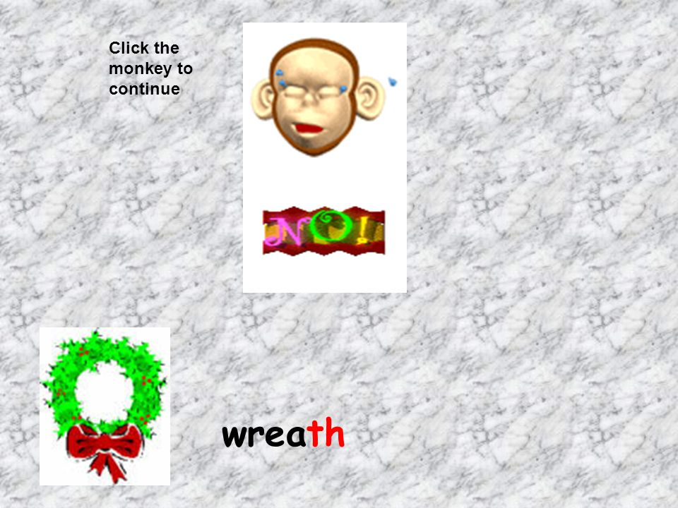 Click the monkey to continue wreath