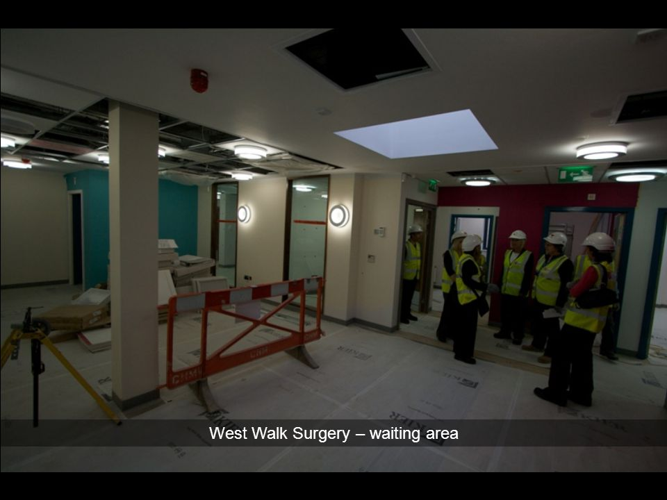 West Walk Surgery – waiting area