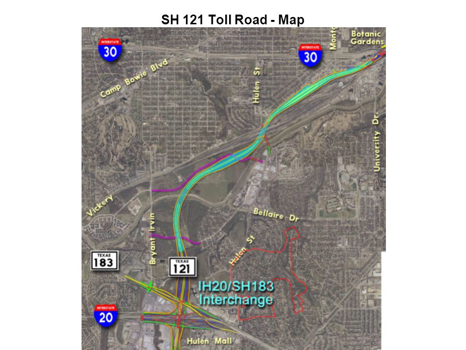 SH 121 Toll Road - Map