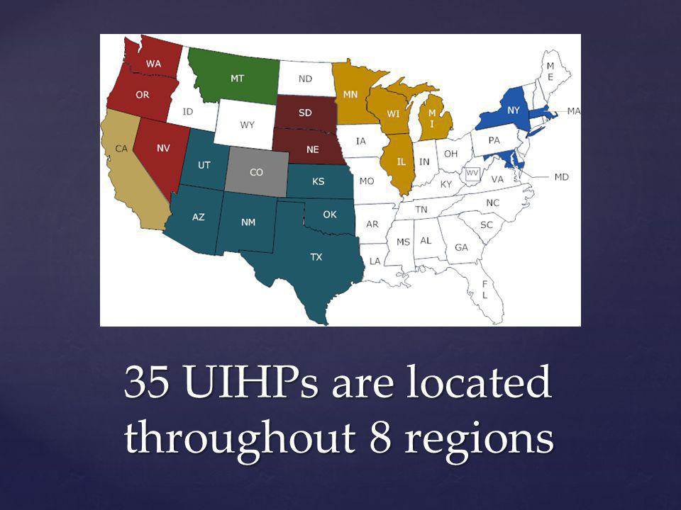 35 UIHPs are located throughout 8 regions