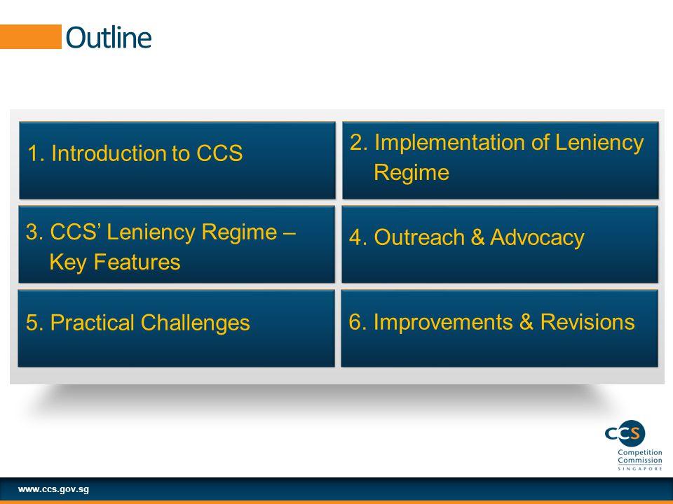 Outline www.ccs.gov.sg