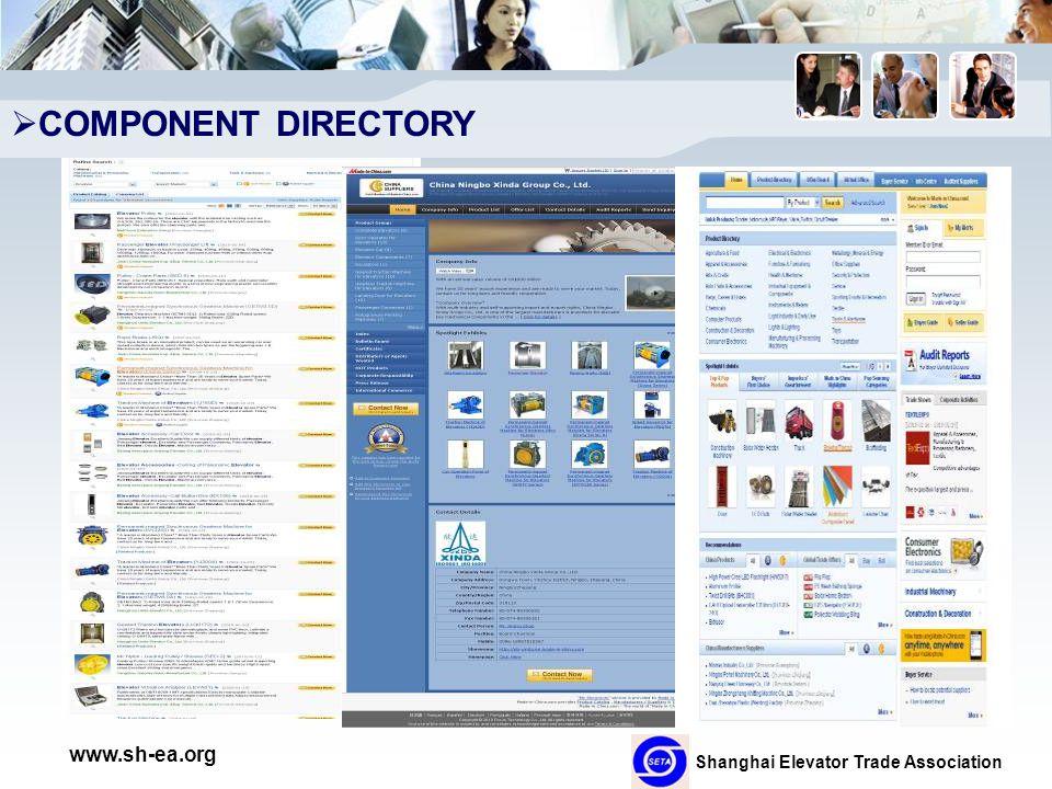 Shanghai Elevator Trade Association www.sh-ea.org  COMPONENT DIRECTORY