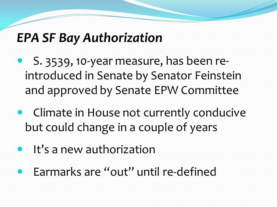 EPA SF Bay Authorization S.