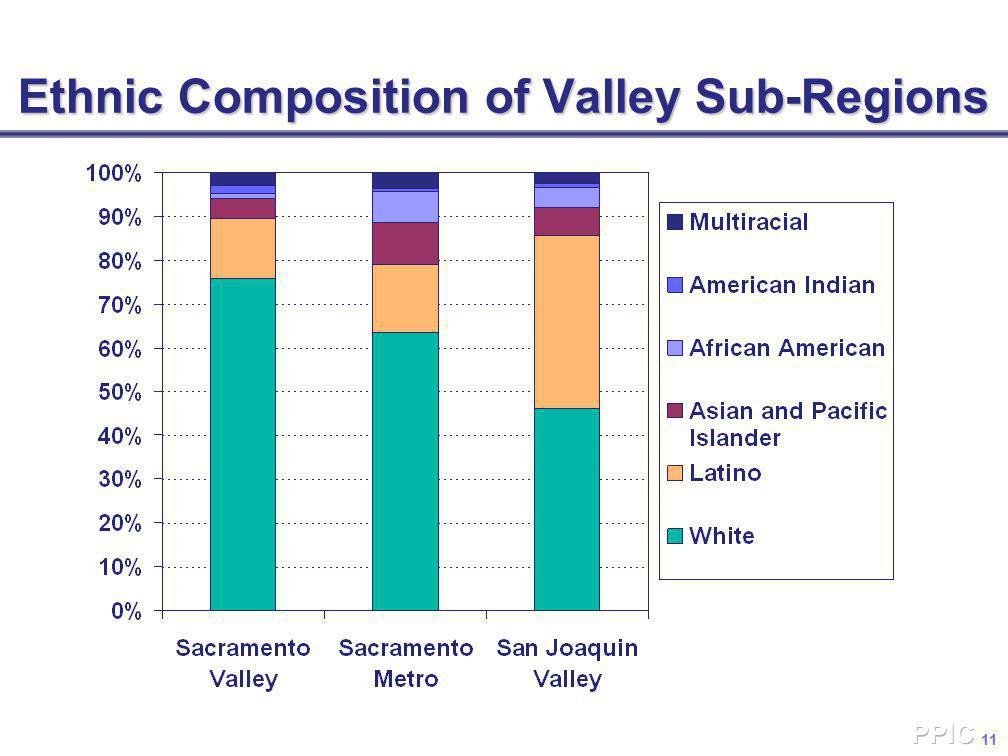 11 Ethnic Composition of Valley Sub-Regions