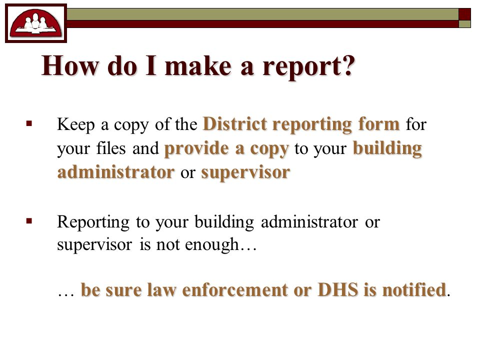 How do I make a report.