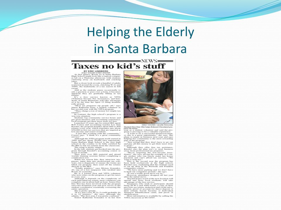 Helping the Elderly in Santa Barbara