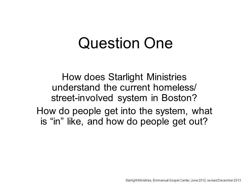 Starlight Ministries, Emmanuel Gospel Center, 06/2012, revised 12/2013 1.