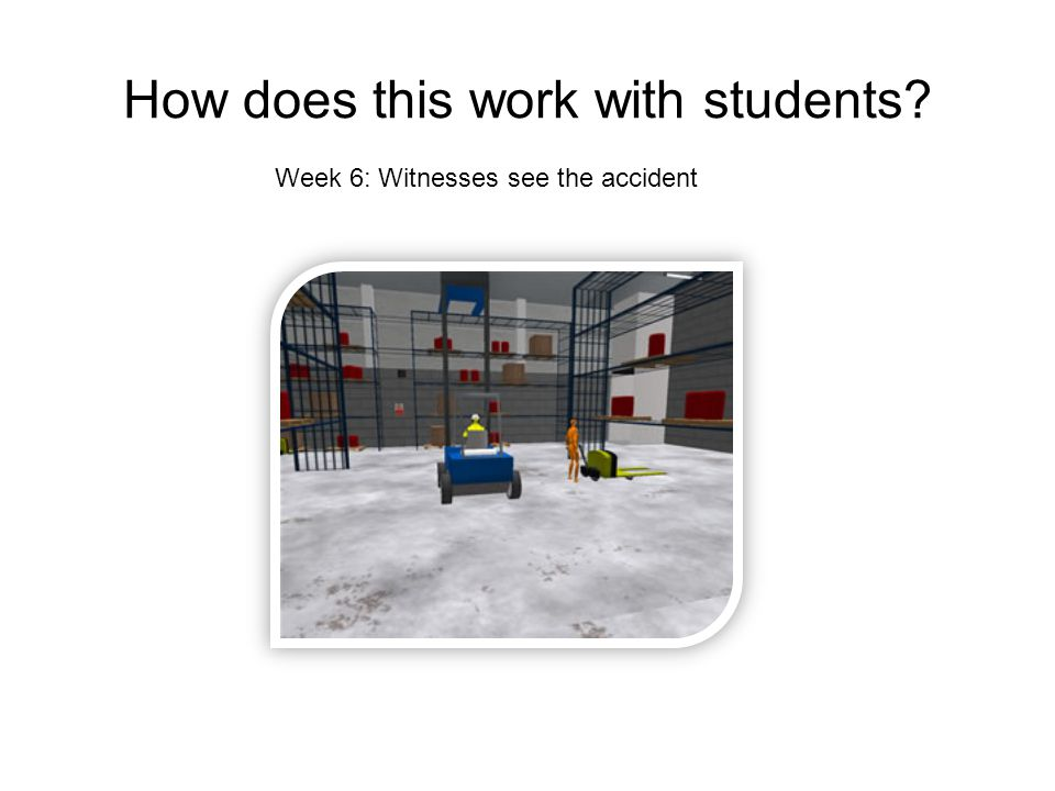 How does this work with students Week 6: Witnesses see the accident