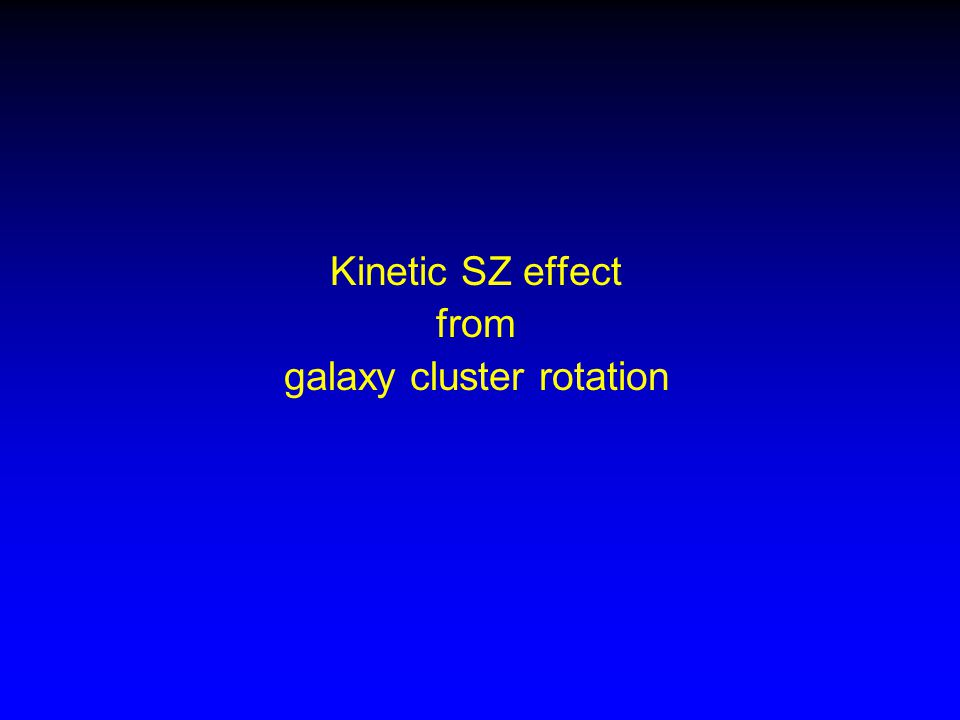 Kinetic SZ effect from galaxy cluster rotation