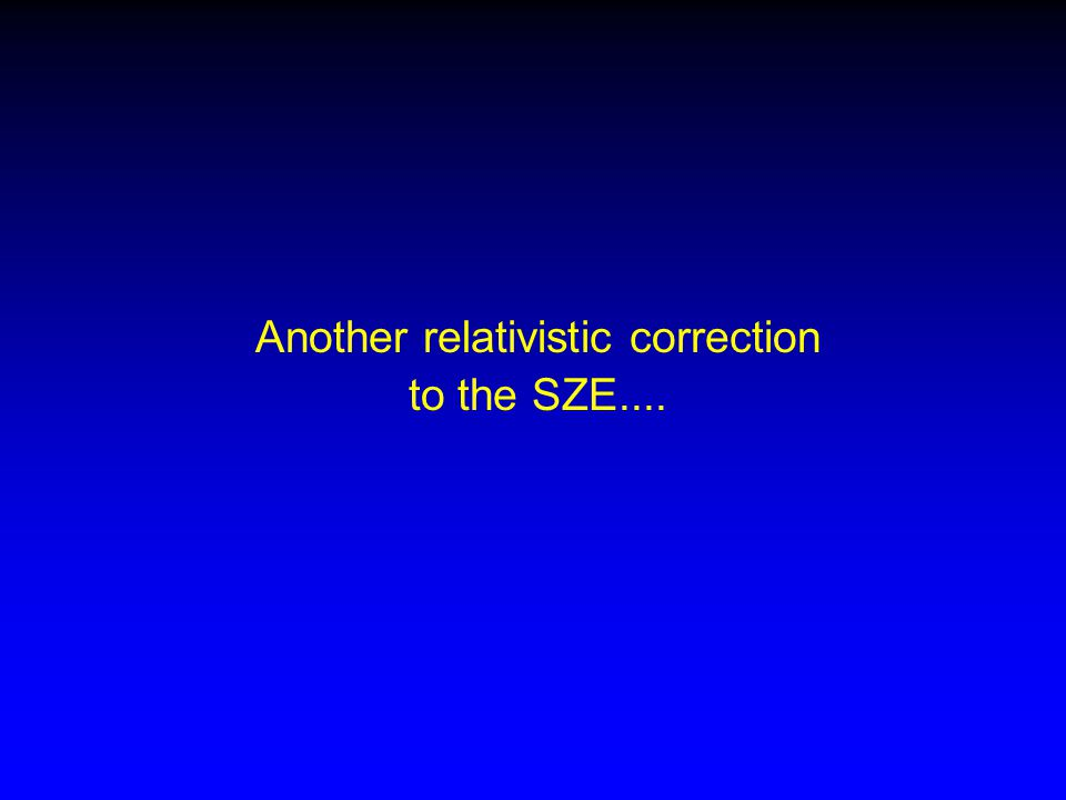 Another relativistic correction to the SZE....