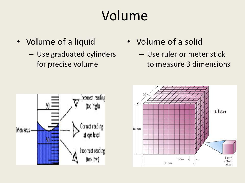 Mass – Amount of matter in an object – Metric base unit is the gram