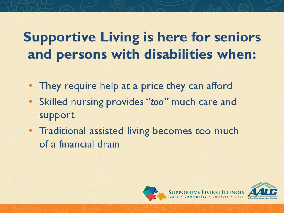 What is Supportive Living.