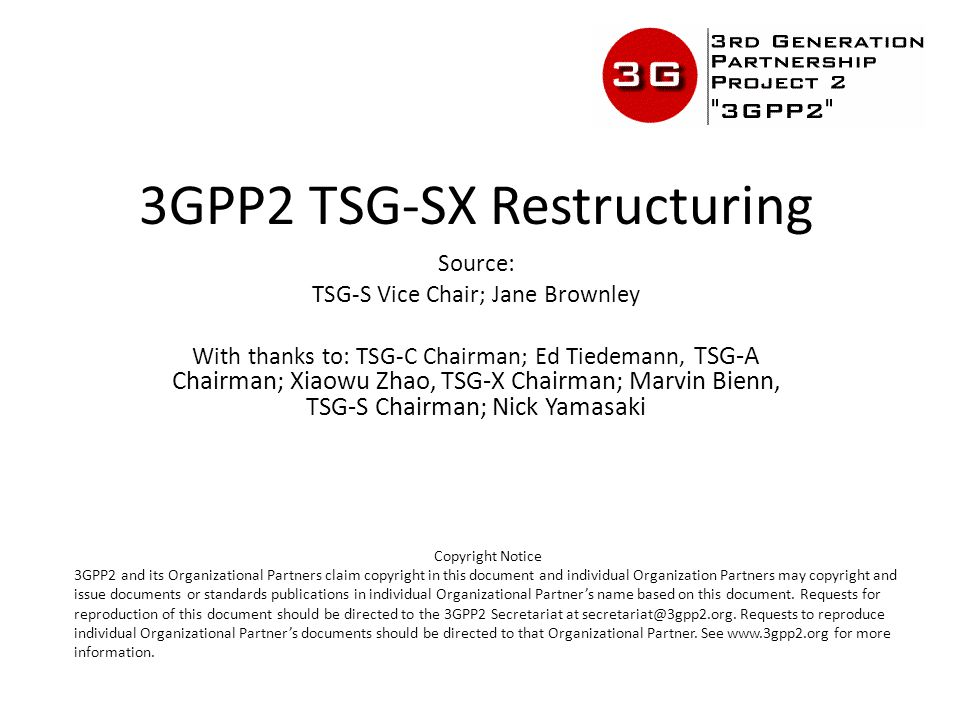 Decision SC-2012/10-07 The SC approves the proposal for TSG restructuring, as presented in SC-20121021-012.