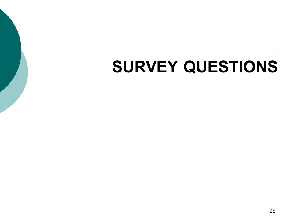 SURVEY QUESTIONS 28