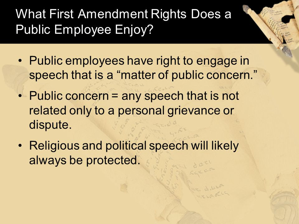 Must the Government Allow Any First Amendment Speech.