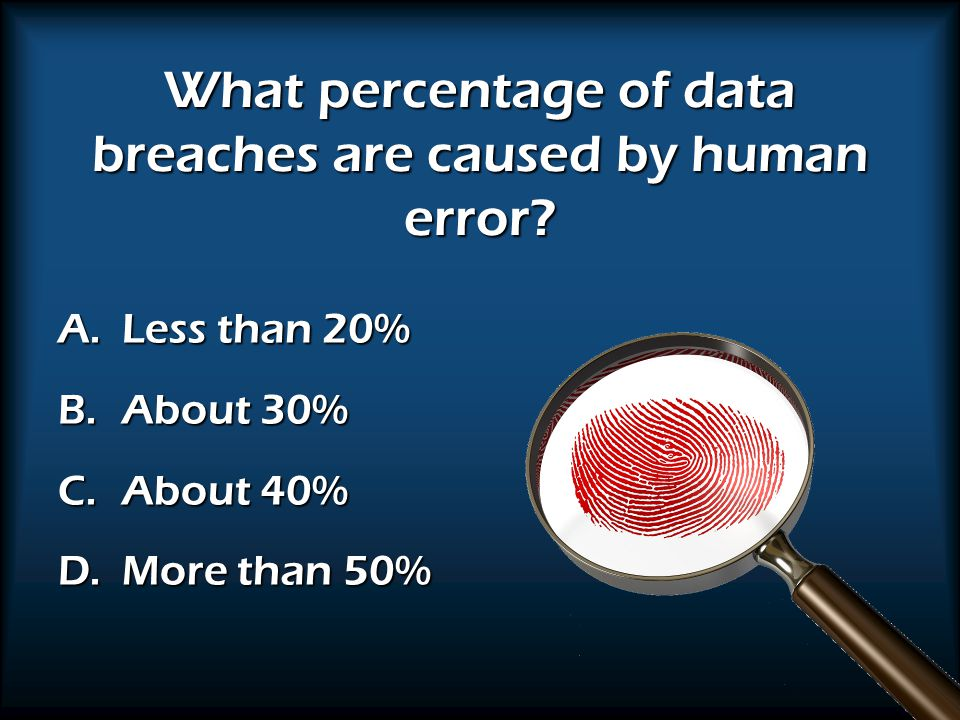 What percentage of data breaches are caused by human error.