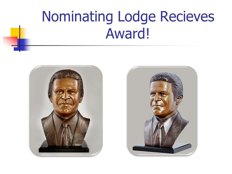 Nominating Lodge Recieves Award!
