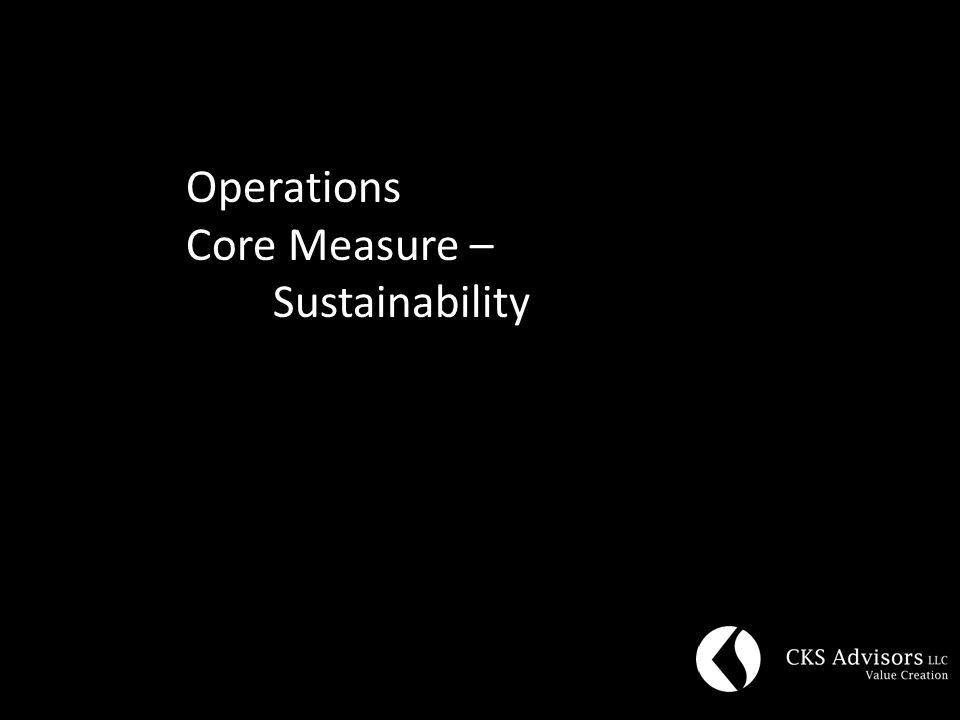 Operations Core Measure – Sustainability