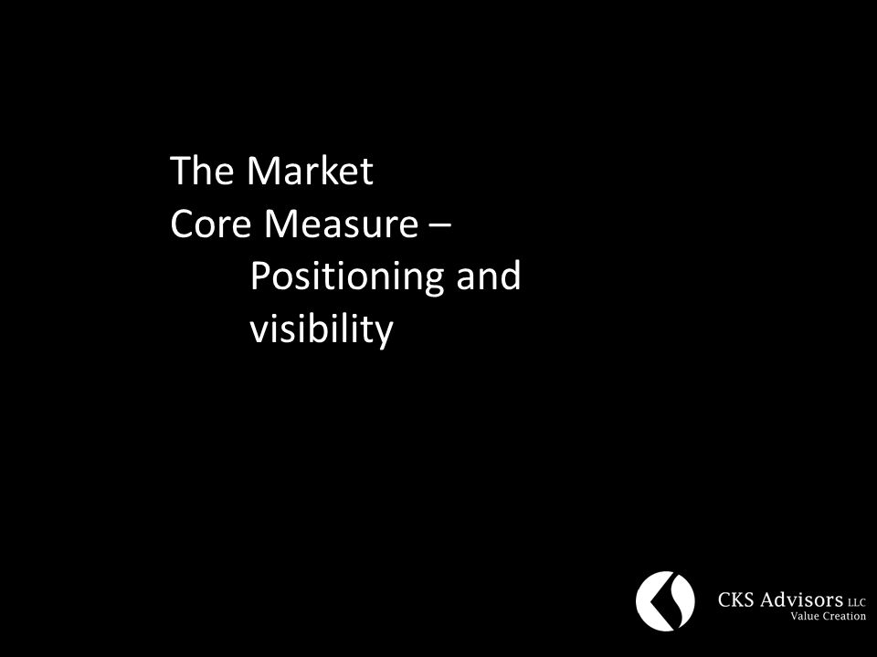The Market Core Measure – Positioning and visibility