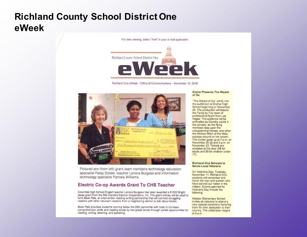 Richland County School District One eWeek