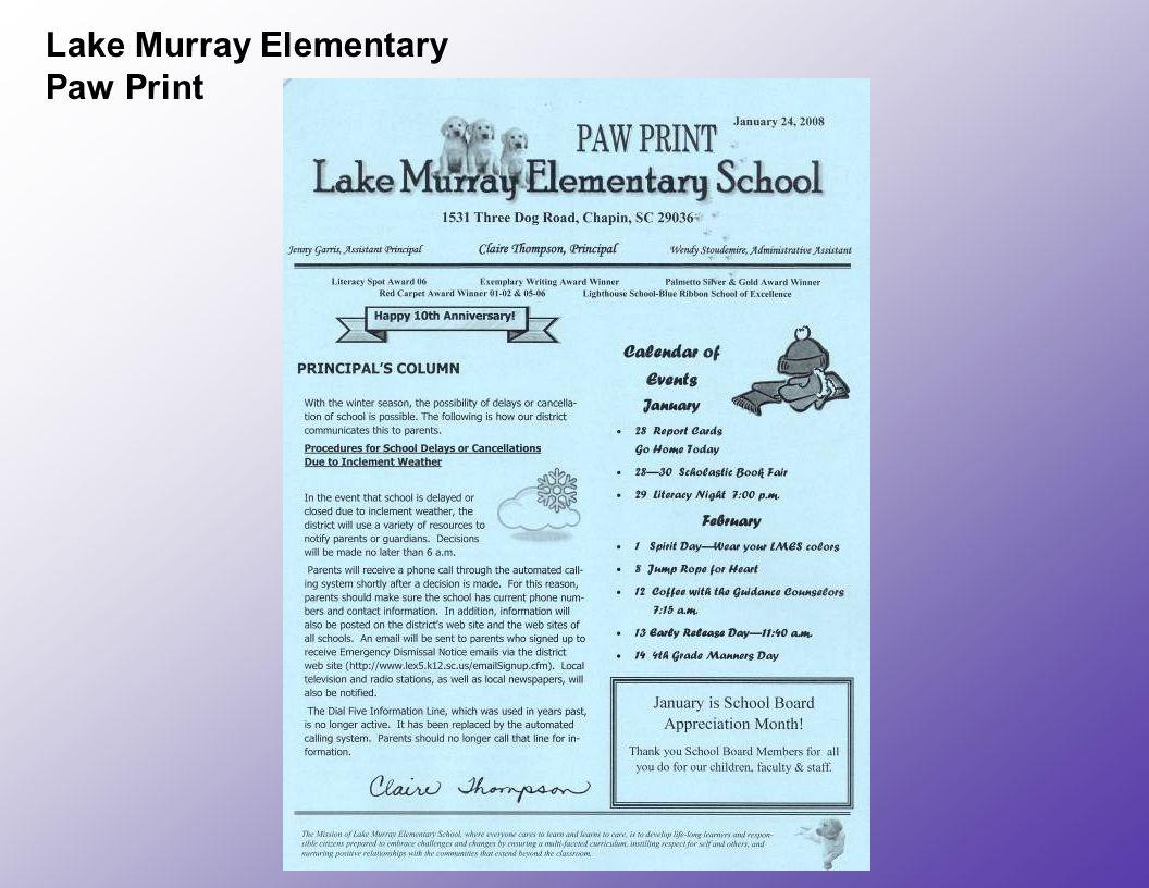 Lake Murray Elementary Paw Print