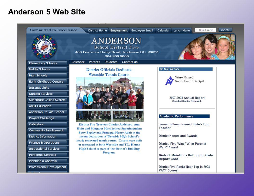 Anderson 5 Web Site