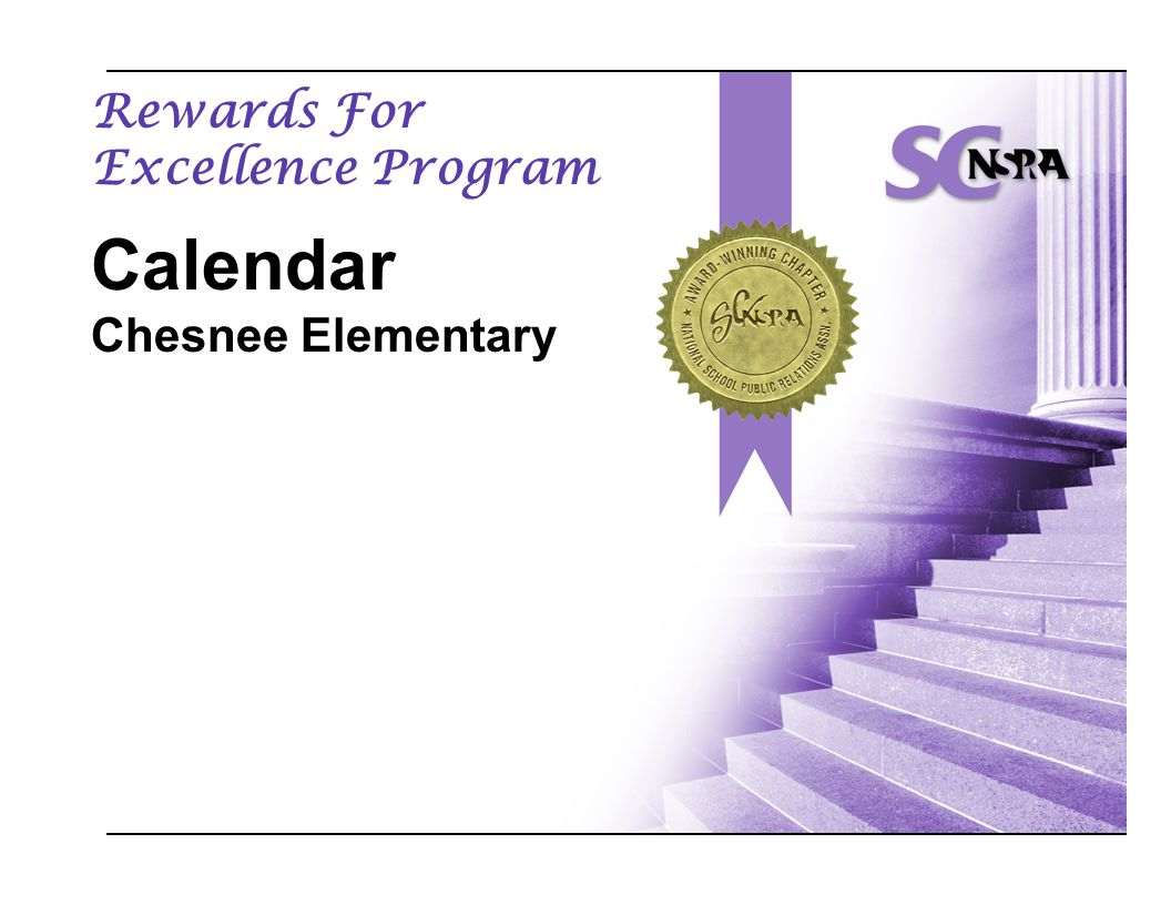 Rewards For Excellence Program Calendar Chesnee Elementary