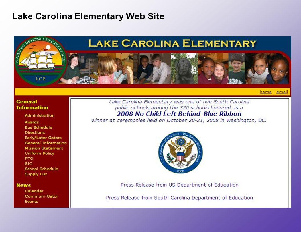 Lake Carolina Elementary Web Site