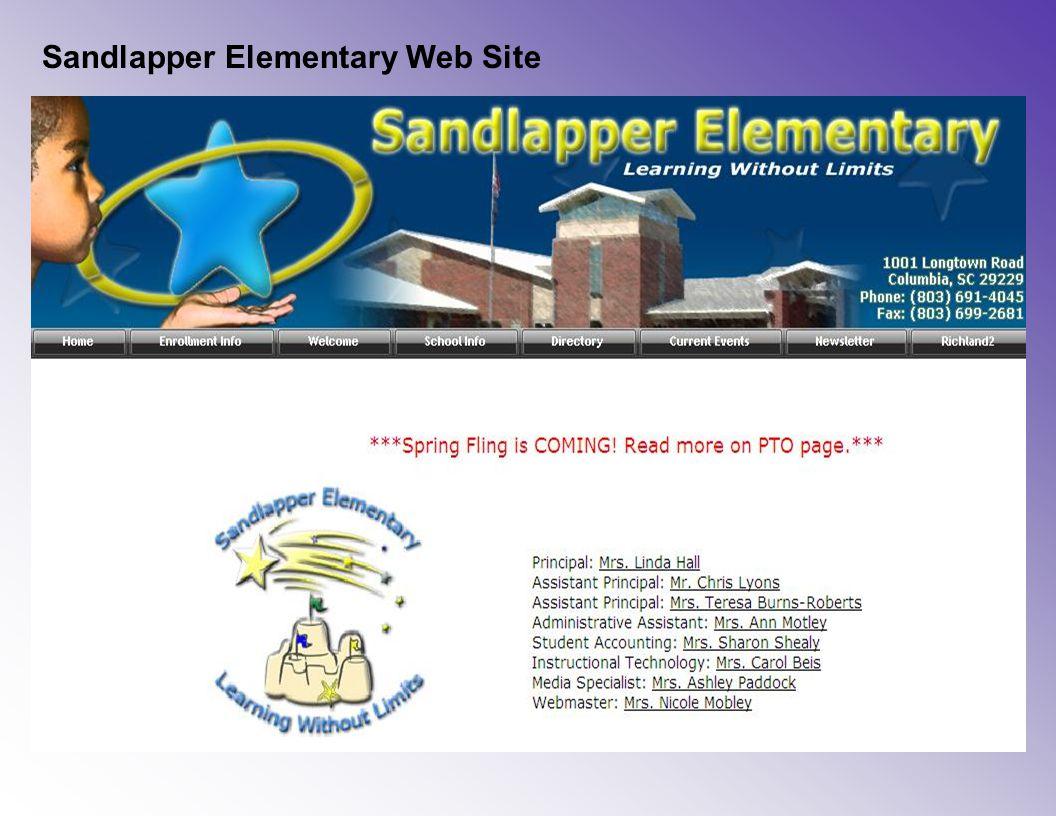 Sandlapper Elementary Web Site