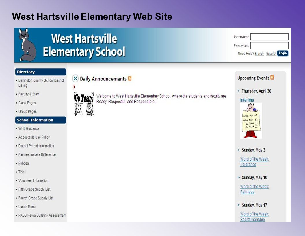 West Hartsville Elementary Web Site