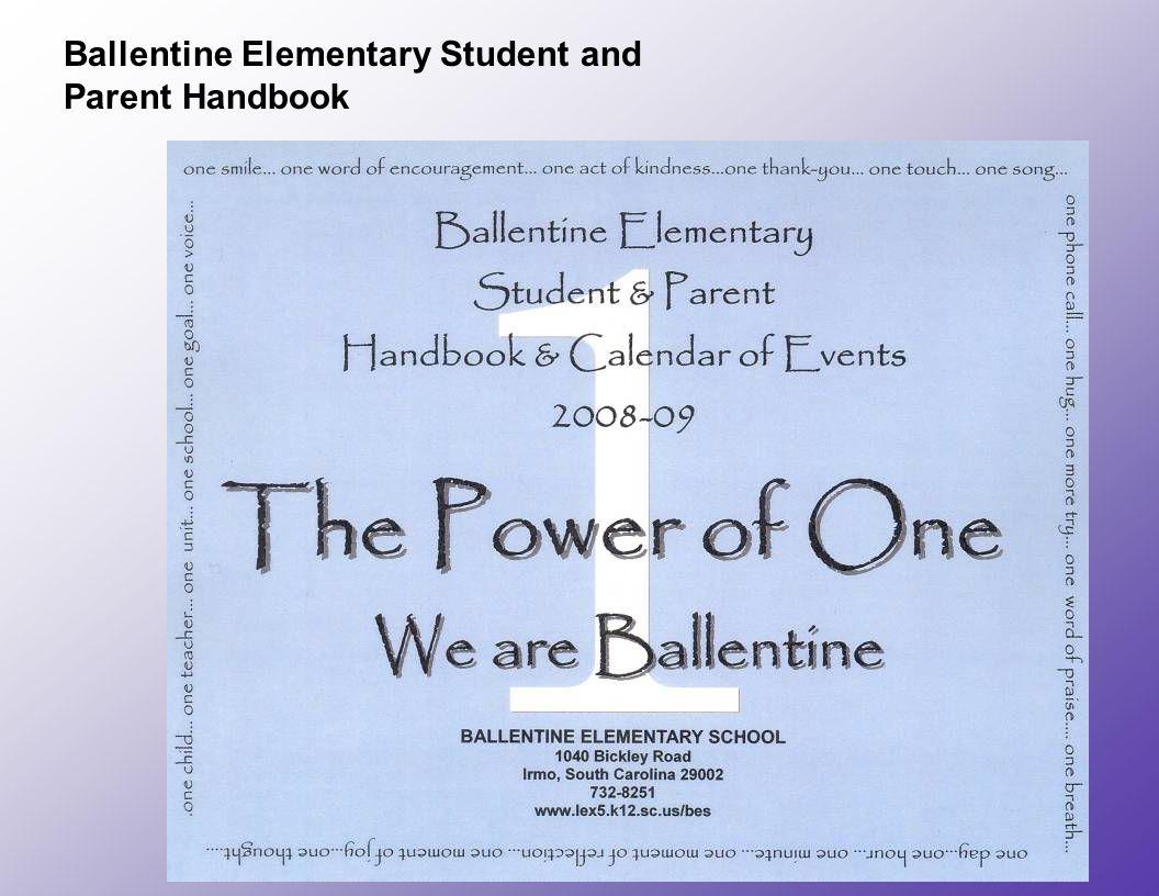 Ballentine Elementary Student and Parent Handbook