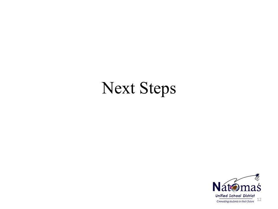 Next Steps 12 N at o mas Connecting students to their future Unified School District