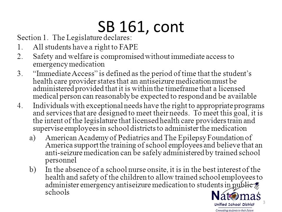 SB 161, cont Section 1.