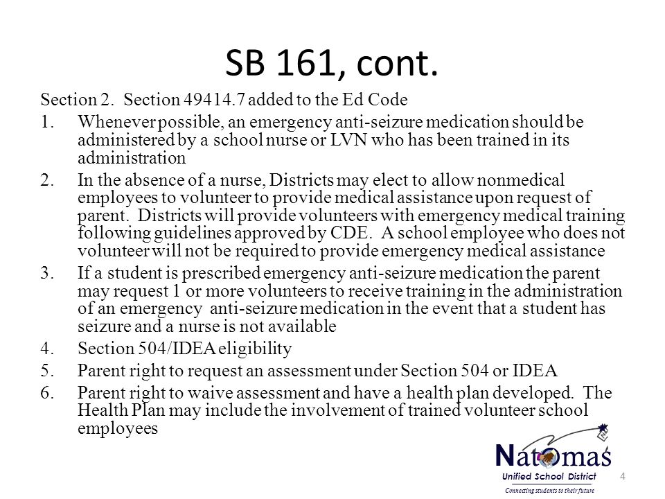SB 161, cont. Section 2.