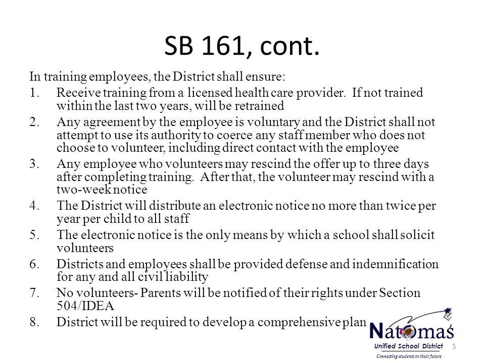 SB 161, cont.