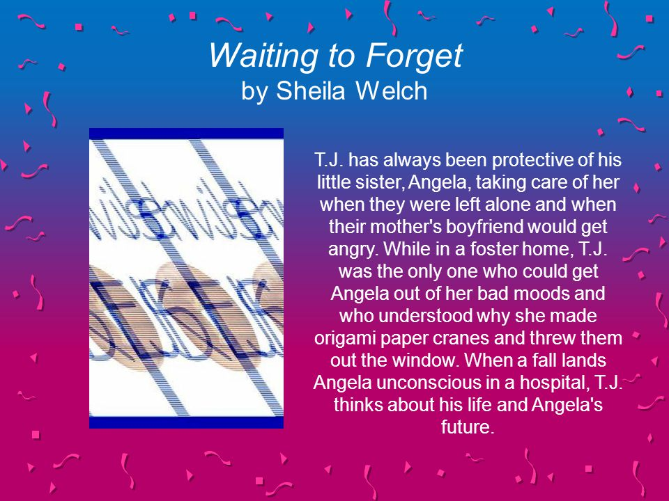 Waiting to Forget by Sheila Welch T.J.