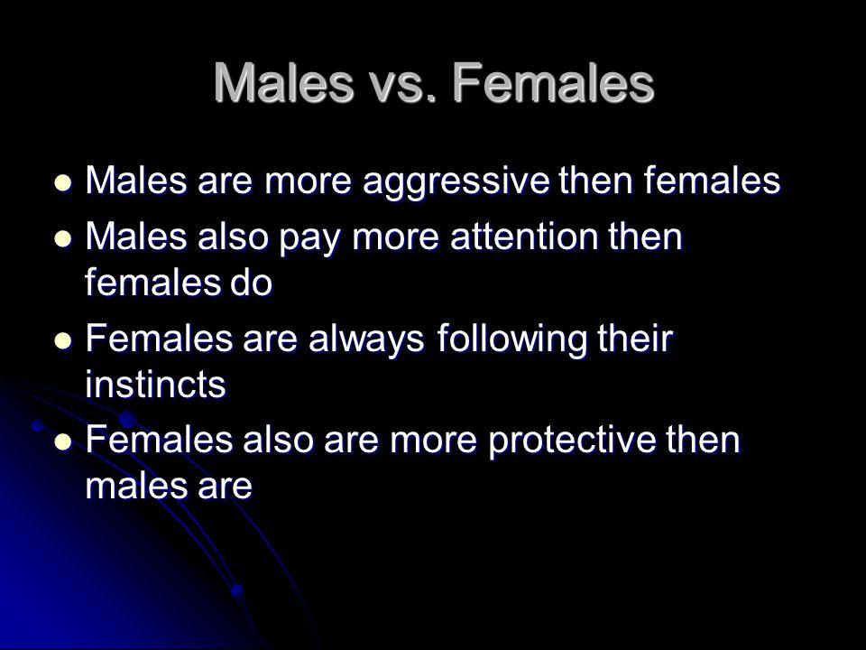 Males vs.