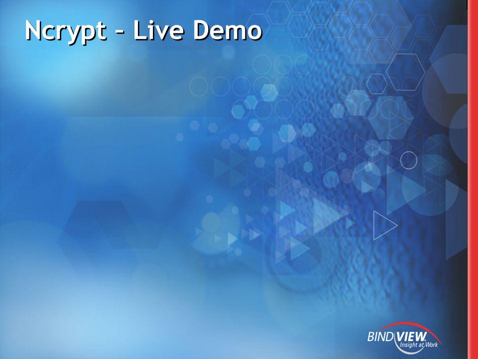 Ncrypt – Live Demo