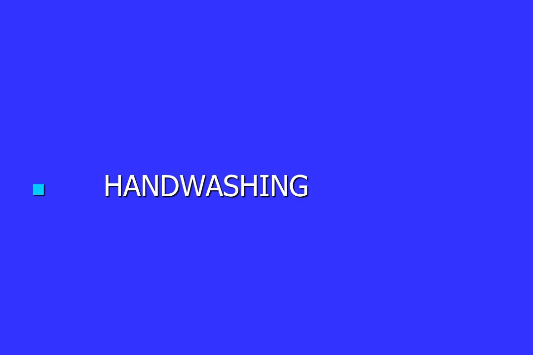 HANDWASHING HANDWASHING