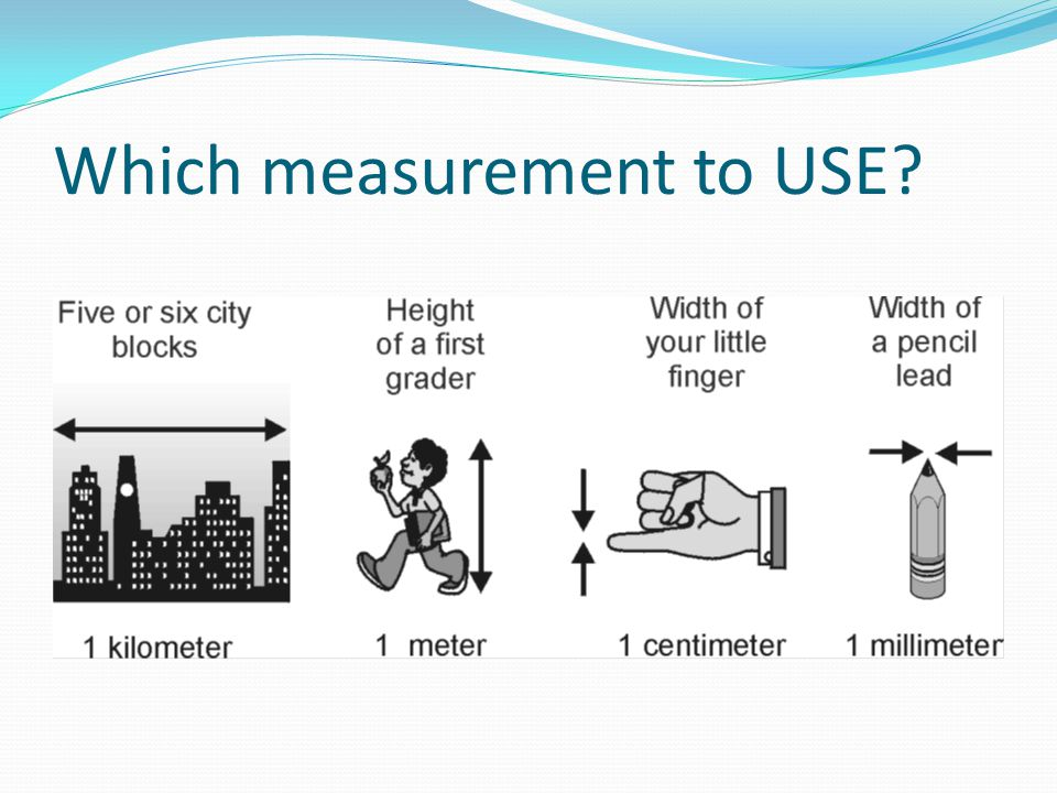 Which measurement to USE?