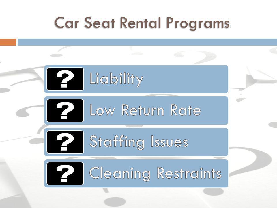 Car Seat Rental Programs