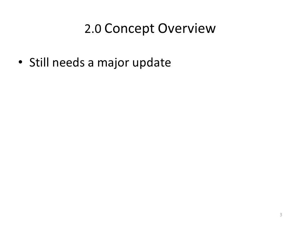 2.0 Concept Overview Still needs a major update 3